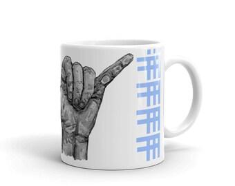b. Blue Shaka (surf) mug