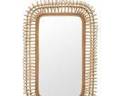 Rattan Mirror, Accent Mirror, Cane Mirror