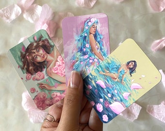 Pretty Girls Spring Aesthetic Matte Mirror Stickers Pack