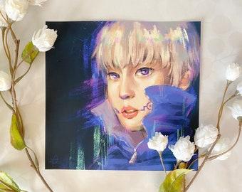 EXO Xiumin x Jujutsu Kaisen Fan Art Print