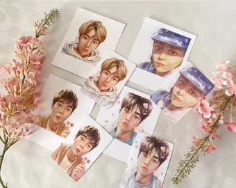 EXO Xiumin Selfie Photocard & Polaroid Style Fan Art Prints
