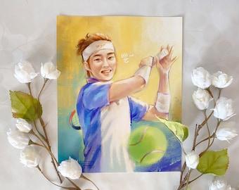 EXO Xiumin x Prince of Tennis Crossover Fan Art Print