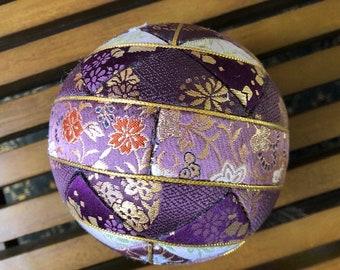Vintage Japanese Kimikome Temari Ball
