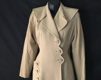 1940s Beige Jacket Baskin Chicago