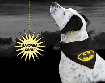 Batman Dog Superhero Cape Bandana   Halloween Costume for Dog