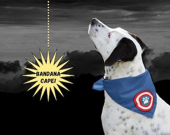 Captain America Dog Superhero Cape Bandana   Halloween Costume for Dog