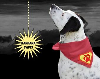 Dog Superman Bandana   Dog Superhero Cape Bandana   Halloween Costume for Dog