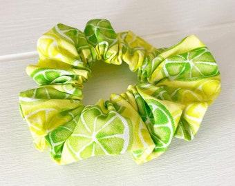 Bobble A Pretty Lemon Yellow Hair Scrunchie Ponytail Band