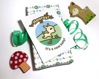 INSTANT DOWNLOAD Baby Shower Card featuring Dotty the Fawn