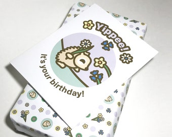 INSTANT DOWNLOAD Birthday Card featuring Emma the Hedgehog