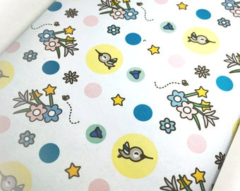 INSTANT DOWNLOAD Printable wrapping paper featuring Zingy the Hummingbird