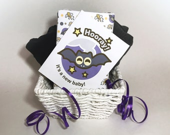 INSTANT DOWNLOAD Baby Shower Card featuring Spookie the Bat