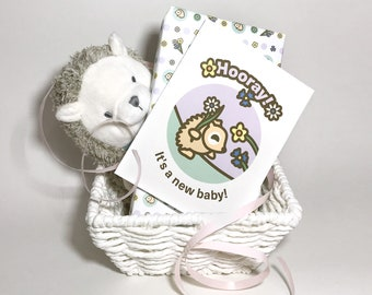 INSTANT DOWNLOAD Baby Shower Card featuring Emma the Hedgehog