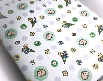 INSTANT DOWNLOAD Printable wrapping paper featuring Emma the Hedgehog