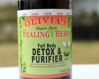 FULL BODY DETOX & Purifier (60ct) - Dr. Sebi Inspired Herbs (similar to viento)