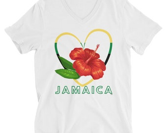 Jamaica Flag T-Shirt, Ladies Jamaican Pride Tee, Caribbean Vacation Top, Jamaica Bridal Party Squad UNISEX FIT