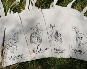 Marauders /Tote Bag / Jute Bag/All the young Dudes /Carrying Bag/Harry/Potter inspired