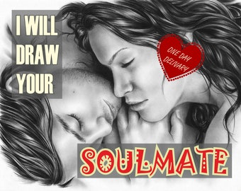 Who Is My Soulmate? Picture of Soulmate, Meet Soulmate, Psychic Soulmate Drawing, Spirit Companion, Spirit Contact, Soulmate Psychic Drawing