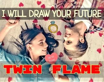 Twin Flame Drawing, Twin Flame, Twin Flame Crystal, Twin Flames Twin Flame Art Future Reading, Twin flame reading, Twin Flame Sketch