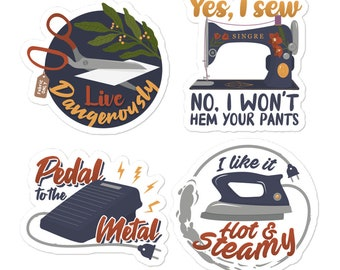 Sewing Dangerously Sticker Pack
