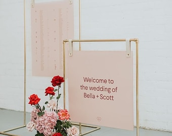 Custom Made Vendor or Wedding Sign with Sign Stand