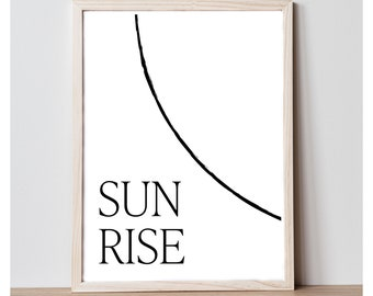Sun Rise Sun Set Art Print Set - Printable Wall Decor Quote - Home Decor Print - Printable 8x10 Wall Art