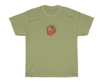 Sweet Strawberry T-shirt | cottagecore | goblincore | fruit | Unisex Heavy Cotton Tee