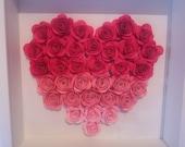 Custom frame with kraft flowers for birthday communion wedding anniversary etc