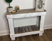 100 Reclaimed Barn Wood Entry Sofa Table