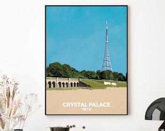 Crystal Palace Park - SE19 - South London local art print - digital download