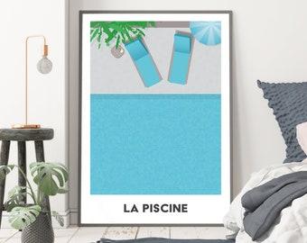 La Piscine - Holiday inspired art print