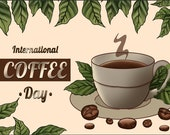 A cup of coffee in the morning, it can bring us a good mood
