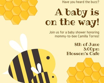 Baby Shower Invitation - Editable - Download - Printable - Instant download - Wedding, Baby Shower, Birthday and Paper Goods