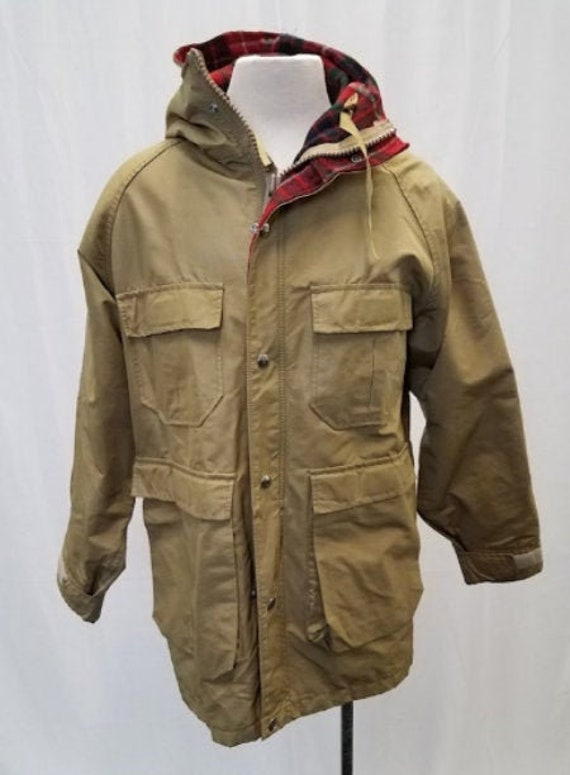 Vintage 80s Woolrich Hooded Mountain Parka Size Sm