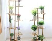 5 6 Tier Ladder Shelf Corner Storage Unit Plant Stand Display Wood Rack Vegtable Rack