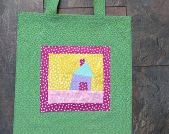 bag handmade patchwork carrying bag foldable gift