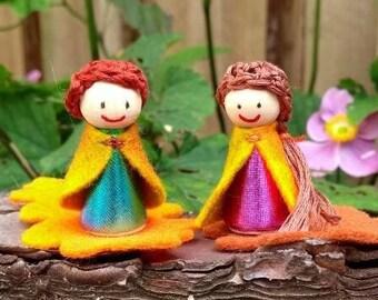 Wooden dolls autumn