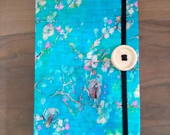 Notebook A5 linen cover with close elastic