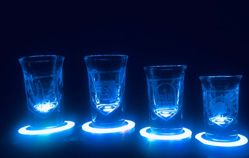 9. Call of Duty Zombie Perks shot Etched Glasses set of 4