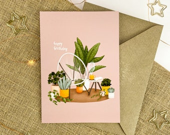 Happy Birthday - Plants | Blank Inside, Birthday Card