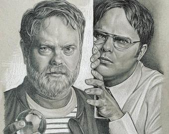 Rainn vs. Dwight PRINT