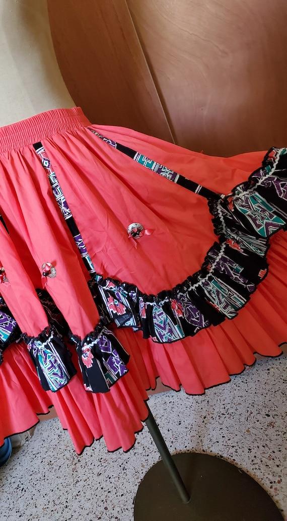 Vintage Western  cowgirl Skirt - image 4