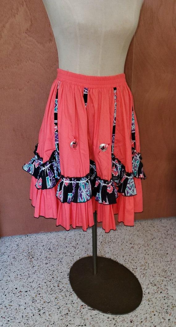 Vintage Western  cowgirl Skirt - image 1