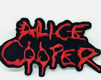 Alice Cooper Punk Rock heavy metal music Iron/Sew on Embroidered Patch