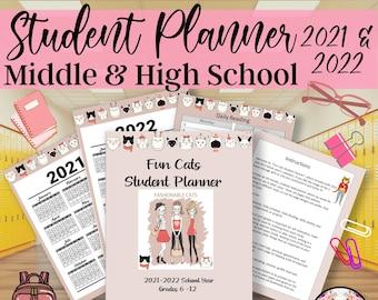 Student Planner, Student Gift, School Planner, Habit Tracker, Class Schedule, Year Calendar, Week Planner, Planner Printable, Assignment