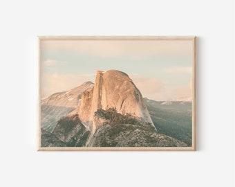 Half Dome Sunset, Yosemite National Park, Wall art, Instant Download, Mountain, California Landscape, Nature Print, Landscape, Vintage Photo