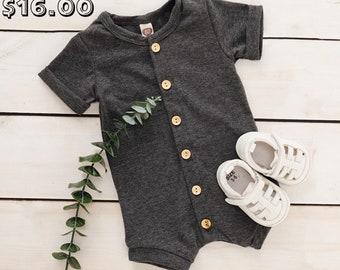 SALE 15% OFF Short Sleeve Baby Romper