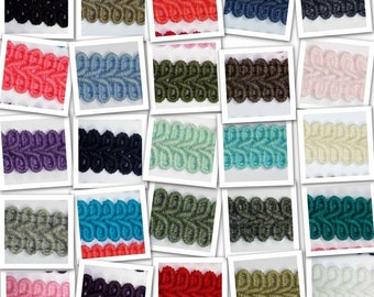 15mm Double Scroll Braid Upholstery Costume Matt Look 25 COLOURS