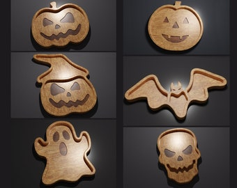Halloween Trays Pack - CNC Files for Wood
