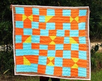 Cotton Quilt, Handsewn Quilt, Handstitched Quilt, Gee's Bend Quilt, Artistic Quilt, Quilt